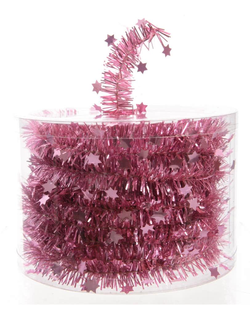 Sterngirlande rosa edle girlande f r weihnachten for Edle weihnachtsdeko