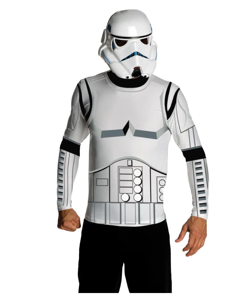 stormtrooper shirt and mask licensed star wars costume. Black Bedroom Furniture Sets. Home Design Ideas