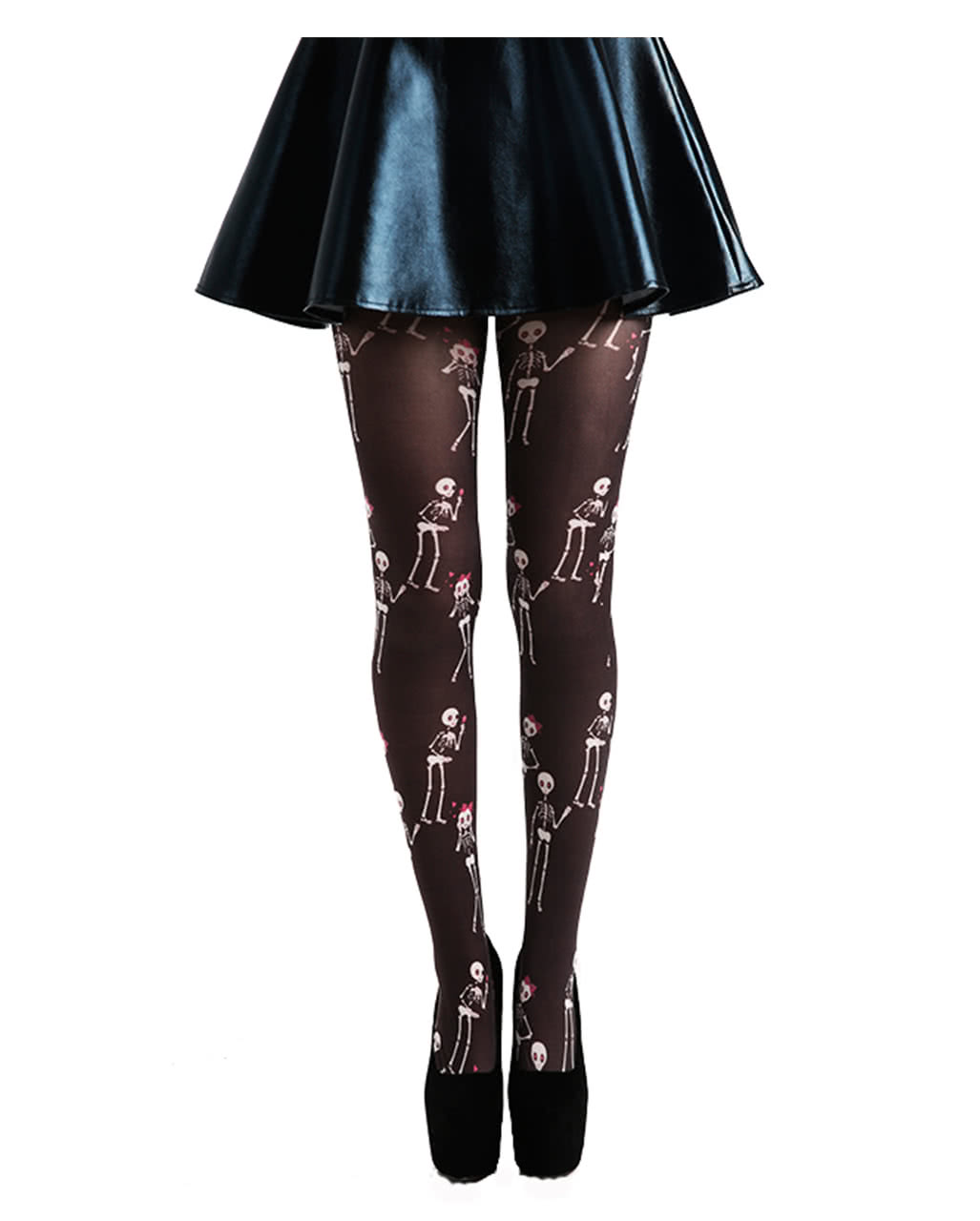 Halloween Gothic Tights Black Pink Fairy Scary Fancy Dress Accessory