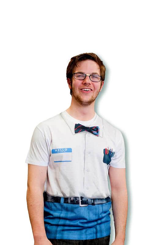 super nerd shirt spie er outfit streber hemd horror. Black Bedroom Furniture Sets. Home Design Ideas