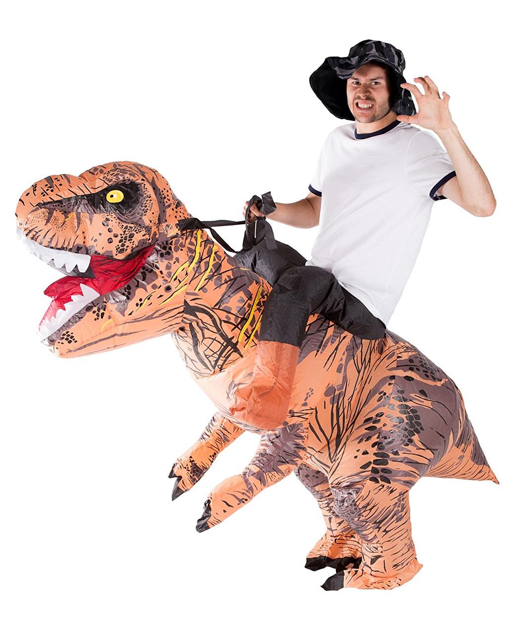 dinosaurier aufblas kost m als huckepack kost m horror. Black Bedroom Furniture Sets. Home Design Ideas
