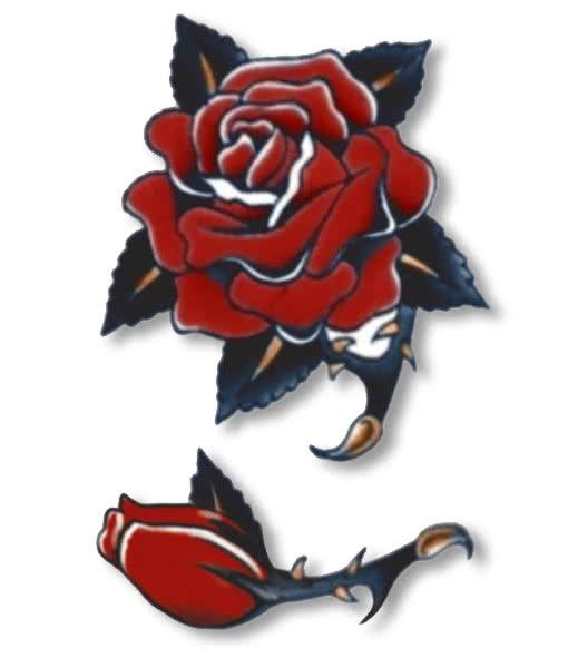 Rose tattoo red dark 75+ Lovable