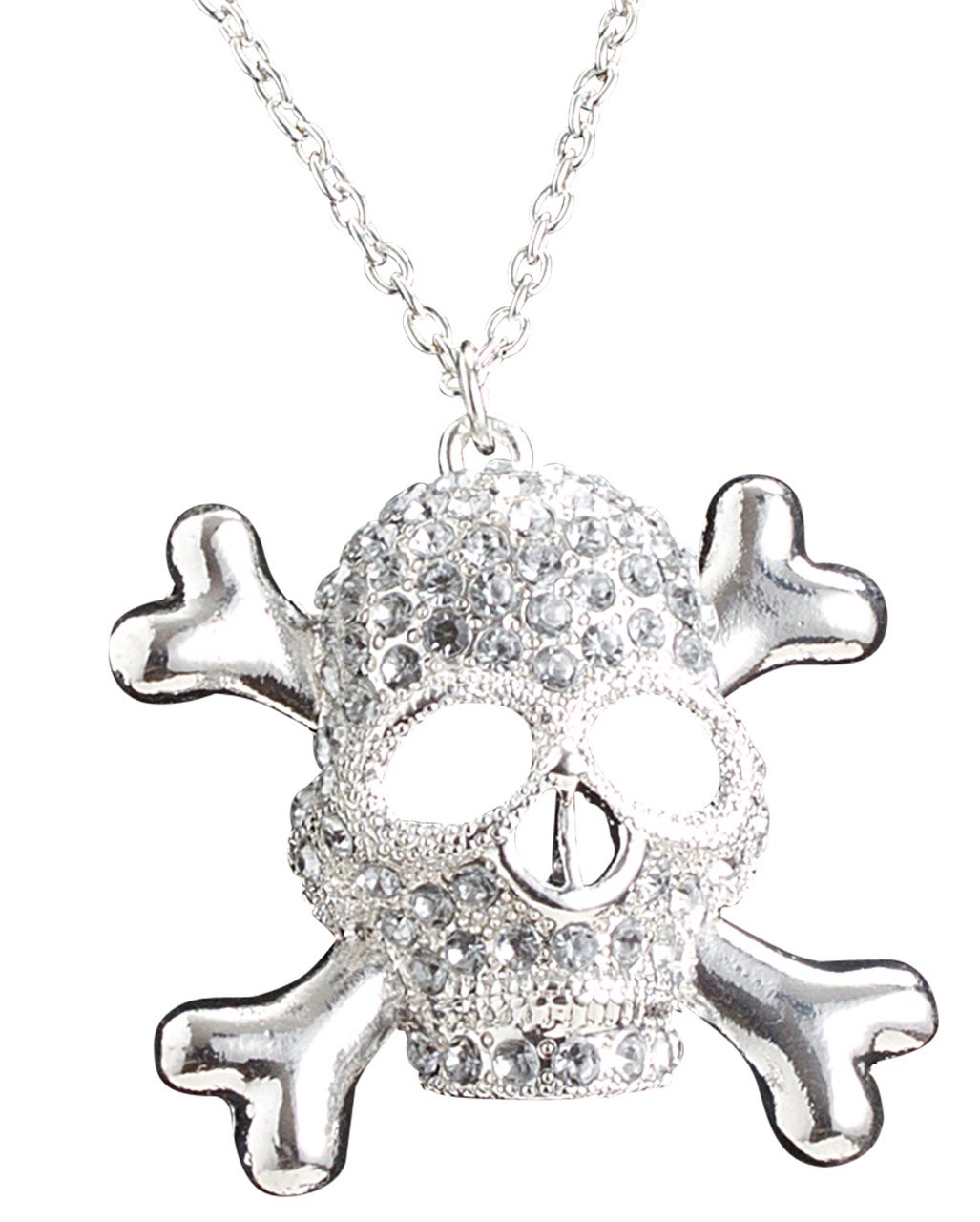 Zombie Day Of The Dead Necklace Skull Skeleton Lady Glass Photo Art Pendan PVCA