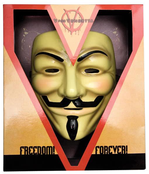 V For Vendetta Mask Deluxe Guy Fawkes Gamemaster Mask Horror
