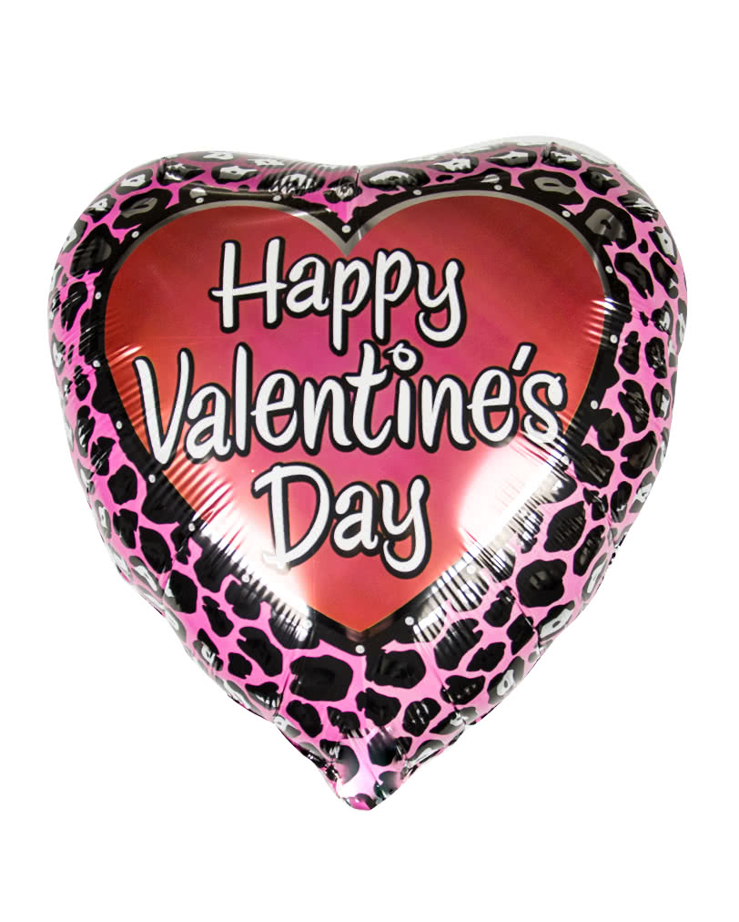 valentin herz folienballon mit leoparden muster valteninstag geschenk horror. Black Bedroom Furniture Sets. Home Design Ideas