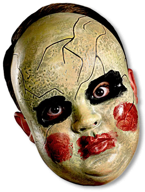 creepy doll face mask halloween dolls mask horror. Black Bedroom Furniture Sets. Home Design Ideas