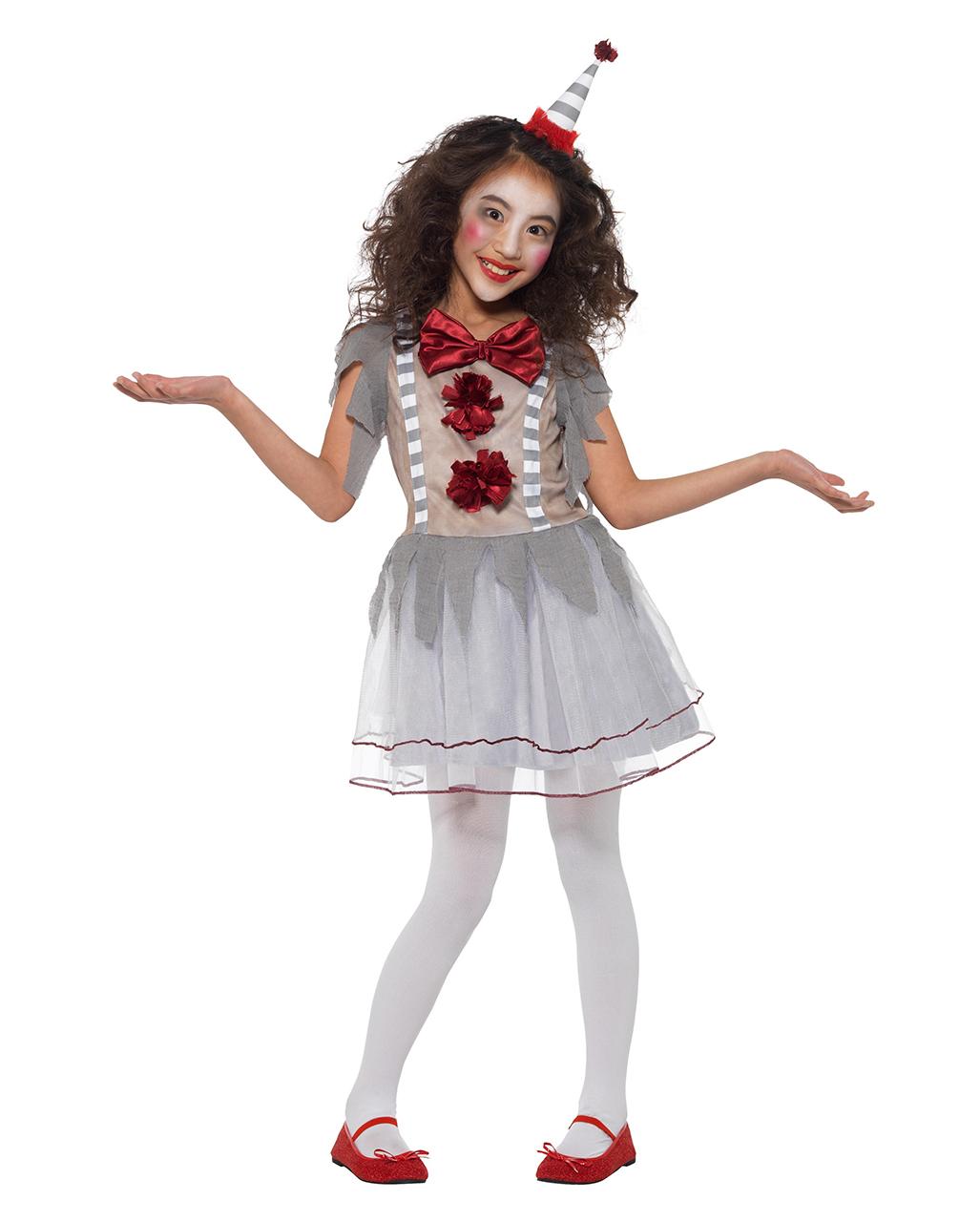 Vintage Horror Clown Madchen Kostum Bestellen Horror Shop Com