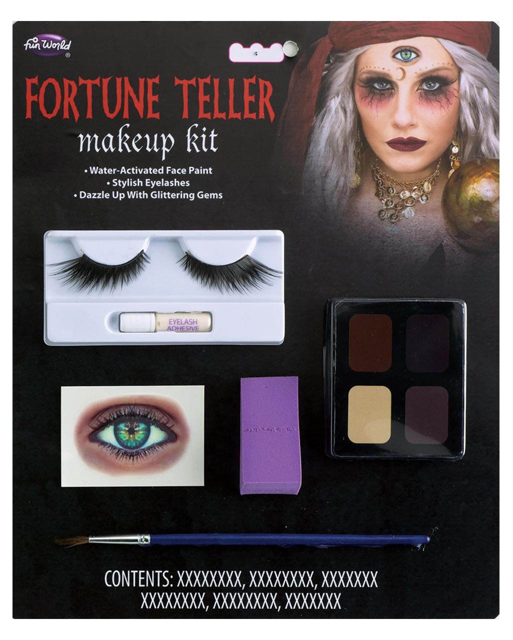 Halloween Fortune Teller Animatronic.Fortune Teller Makeup Kit