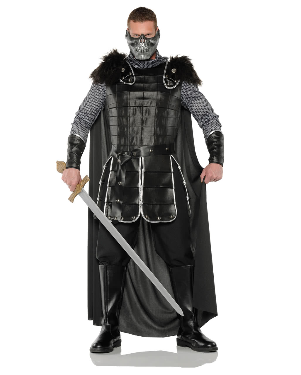warlords costume with mask medieval costume horror. Black Bedroom Furniture Sets. Home Design Ideas