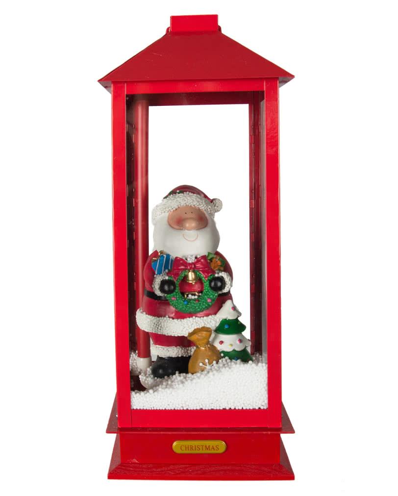 singender weihnachtsmann im schneegest ber lustige. Black Bedroom Furniture Sets. Home Design Ideas