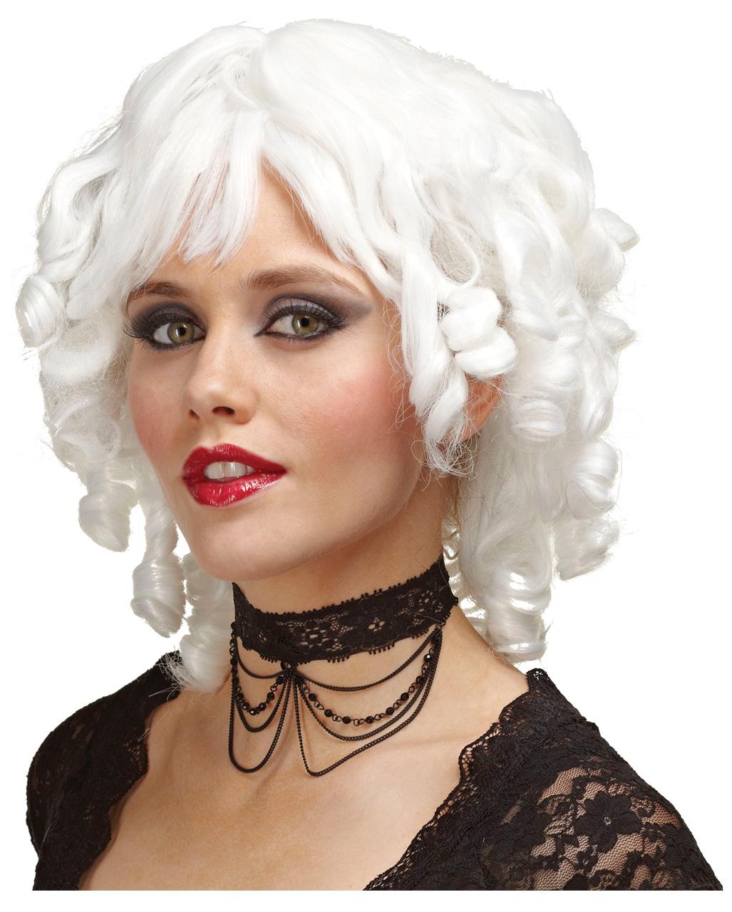 White Stopper Curl Wig Rococo & Baroque Wigs