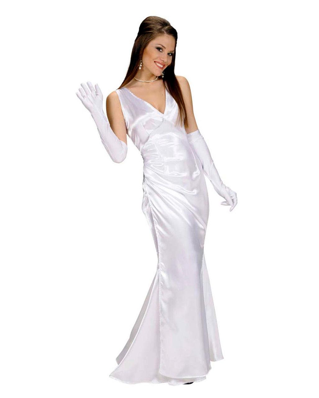 Abendkleid Weiss Gr S Als Prom Queen Kostum Horror Shop Com