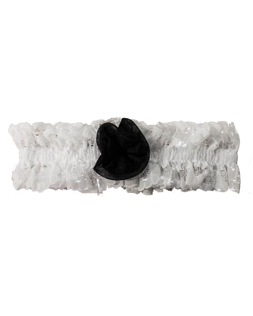 garter white with black rose buy sexy suspenders horror. Black Bedroom Furniture Sets. Home Design Ideas