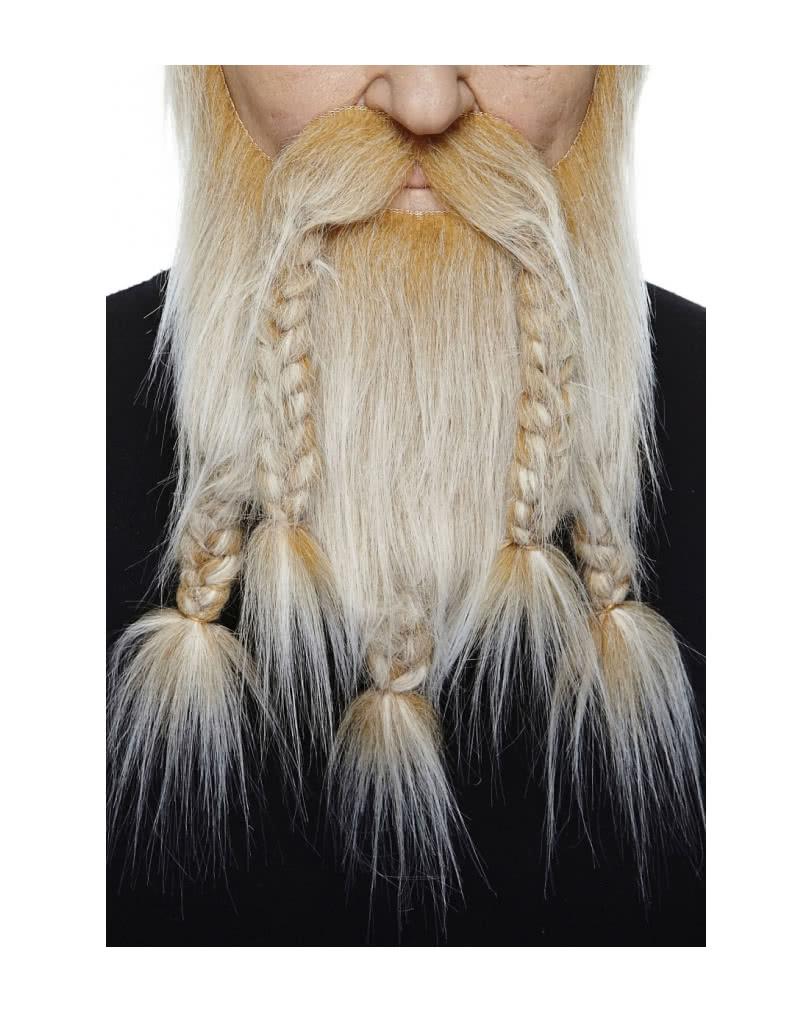 wikinger kombi bart blond grau meliert kunsthaar vollbart. Black Bedroom Furniture Sets. Home Design Ideas