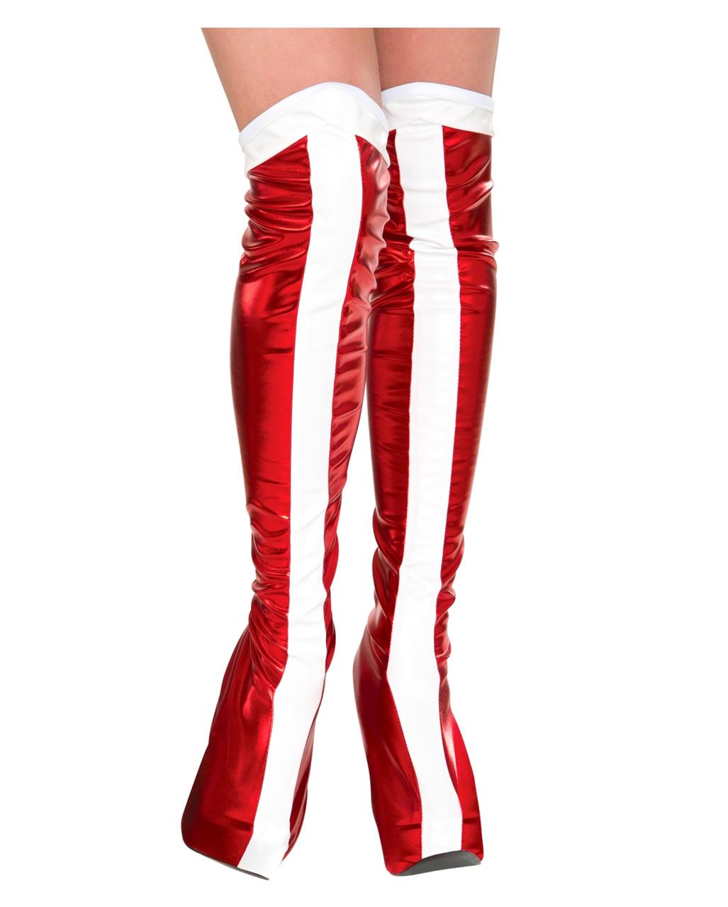 rote Stiefelstulpen rot Stulpen Karneval
