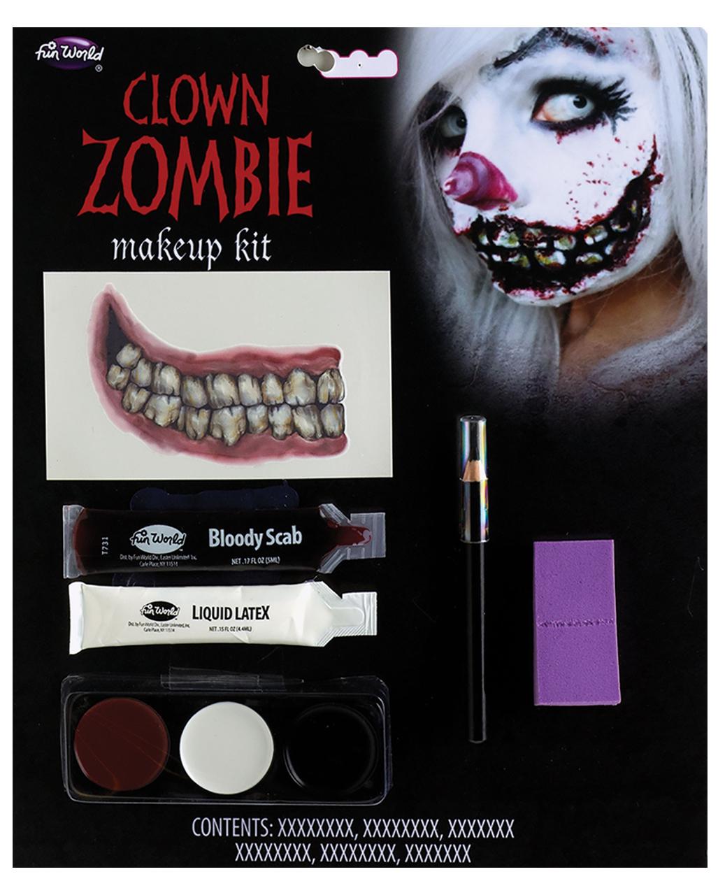 Zombie Clown Makeup Kit