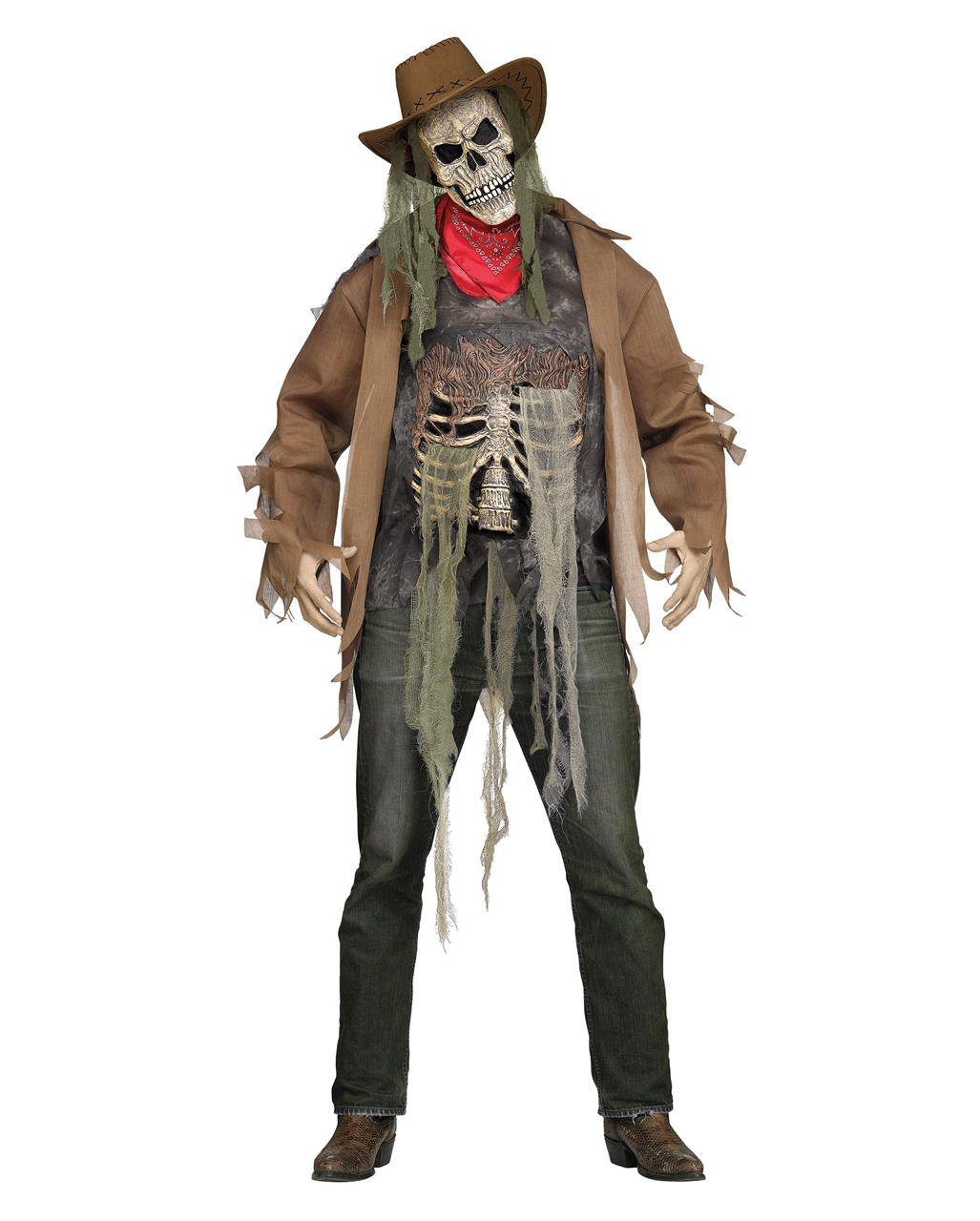 Zombie Cowboy Kostum Fur Halloween Horror Shop Com