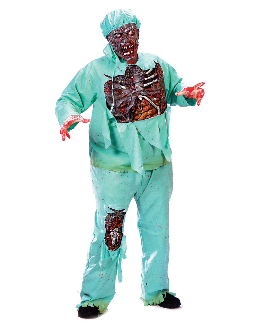zombie doctor kost m plus size xl als zombie verkleidung f r halloween horror. Black Bedroom Furniture Sets. Home Design Ideas