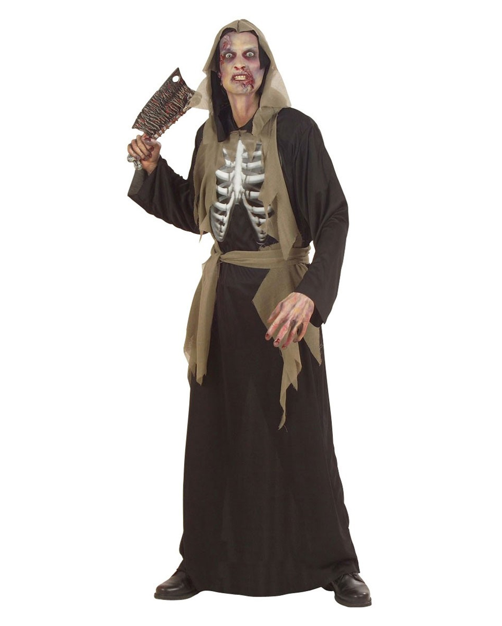 Zombie Skeleton Costume XL