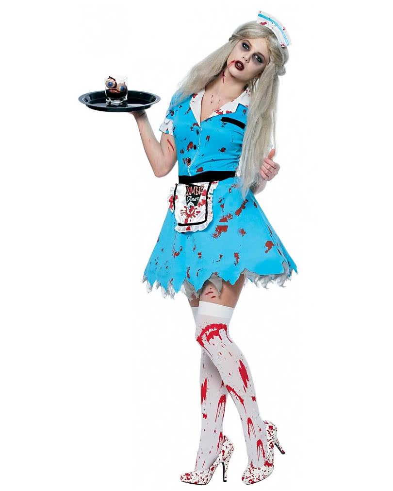 zombie waitress costume undead waitress costume horror. Black Bedroom Furniture Sets. Home Design Ideas
