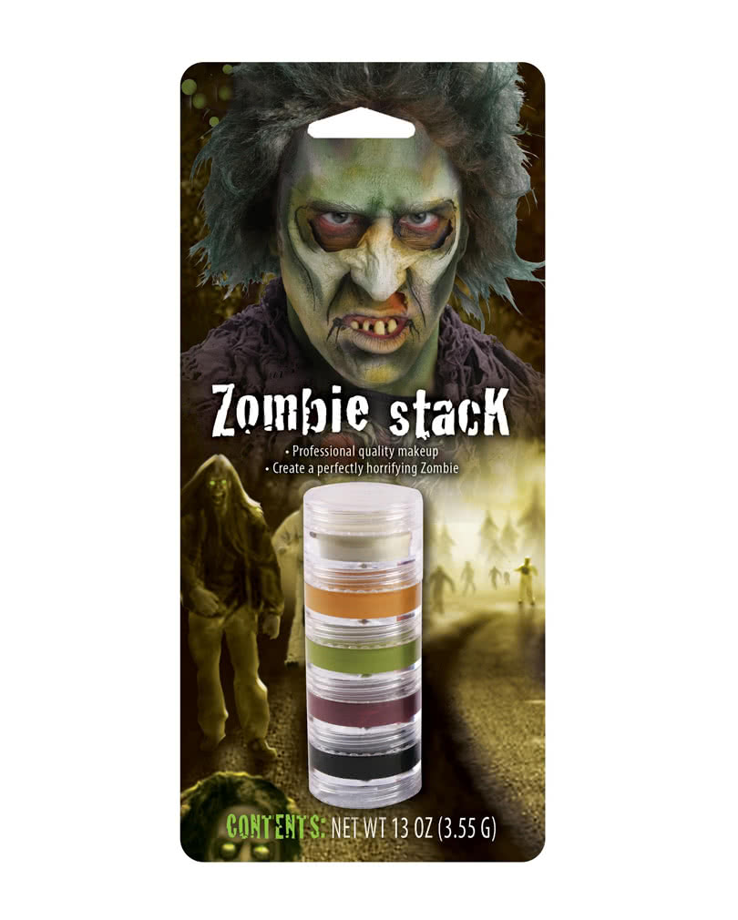 zombie make up stack 5 teilige zombie schminke horror. Black Bedroom Furniture Sets. Home Design Ideas