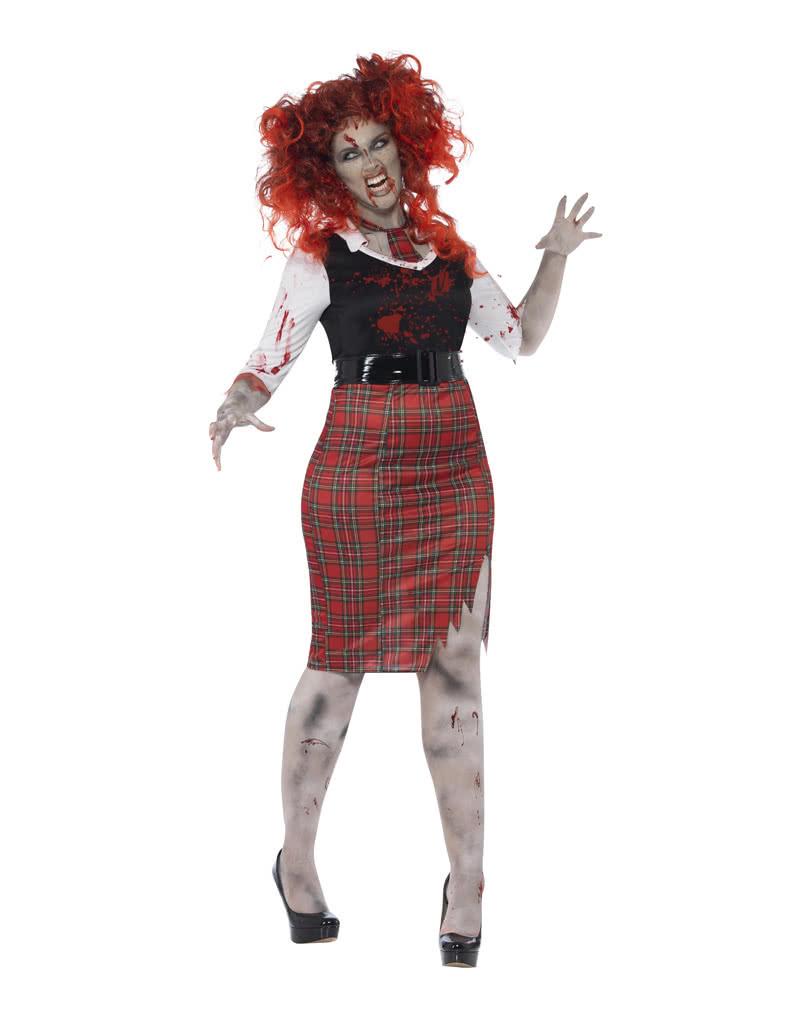 Zombie School Girl Uniform Schoolgirl Halloween Costume