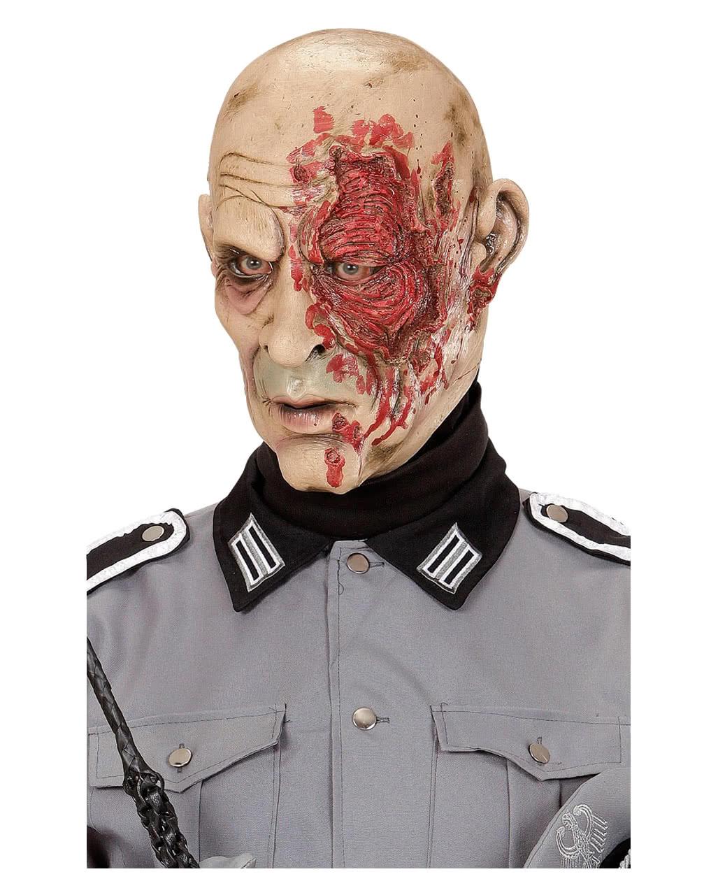 zombie soldat horror maske halloween vollmaske horror. Black Bedroom Furniture Sets. Home Design Ideas