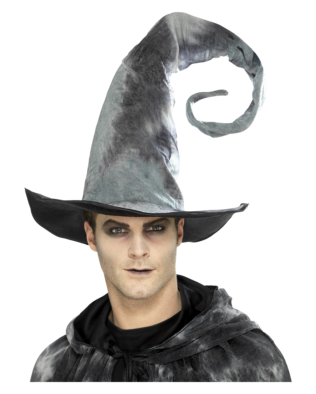 Gray Witch Hat Deluxe for Gothic & Halloween costume ...