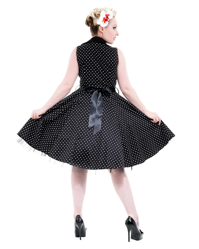 vintage dress black polka dot dress petticoat dress. Black Bedroom Furniture Sets. Home Design Ideas