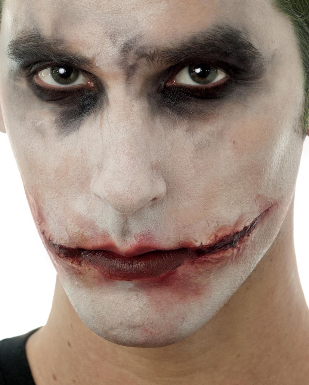 Narben Schminken Wie.Joker Narben Aus Latex Joker Make Up Schminken Horror Shop Com