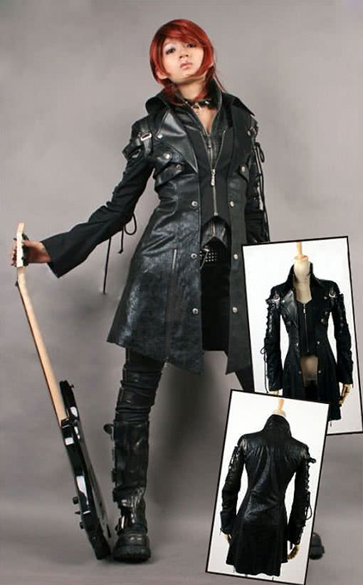 artificial leather coat ladies faux leather jacket punk. Black Bedroom Furniture Sets. Home Design Ideas