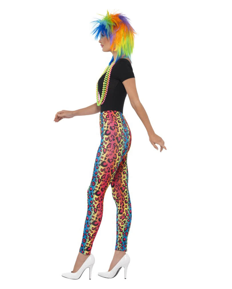 Neon leopard leggings button for shrill Bad outfits | horror-shop.com