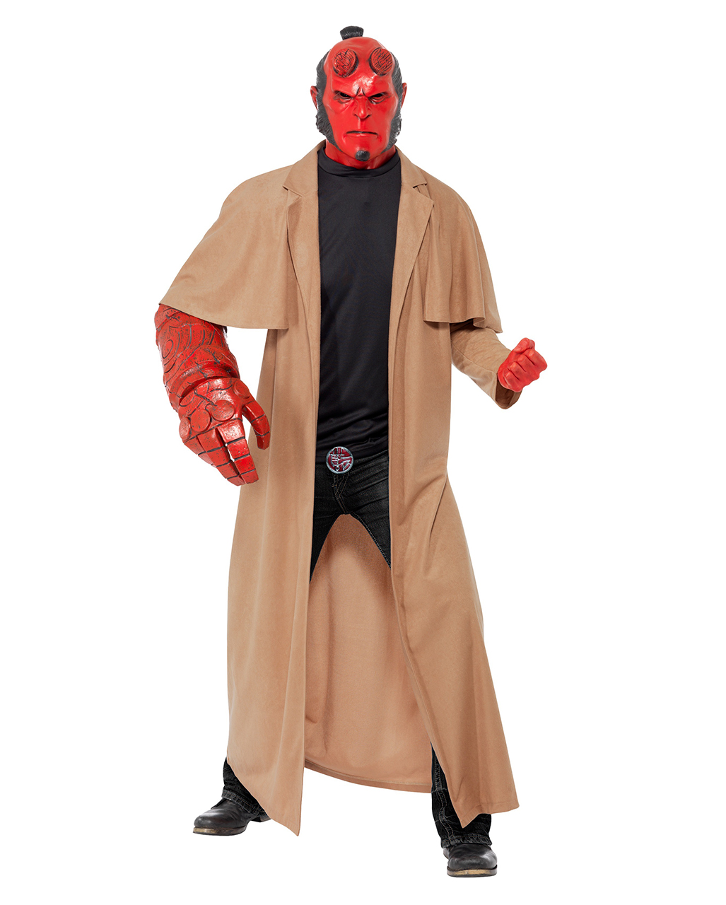 original hellboy costume hellboy coat mask with license horror. Black Bedroom Furniture Sets. Home Design Ideas