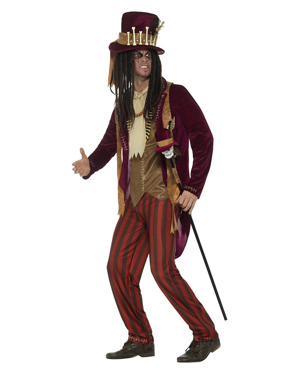 voodoo witch doctor costume deluxe for halloween horror. Black Bedroom Furniture Sets. Home Design Ideas
