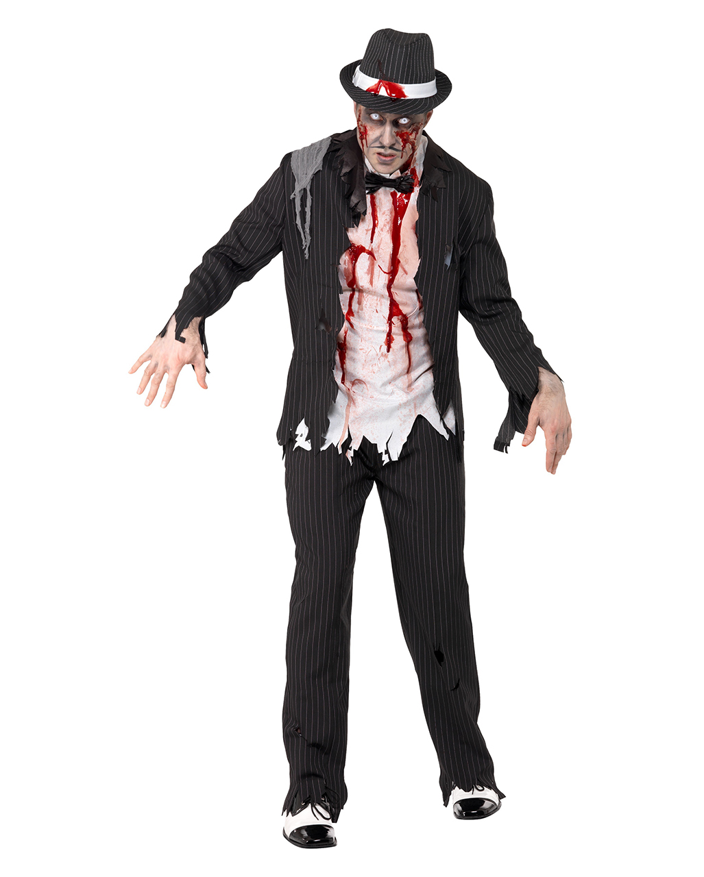 zombie mafiosi costume creepy mobster outfit horror. Black Bedroom Furniture Sets. Home Design Ideas
