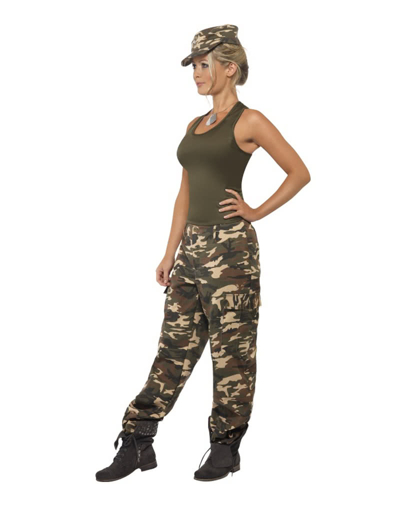 camouflage ladies costume sexy army outfit for ladies horror. Black Bedroom Furniture Sets. Home Design Ideas