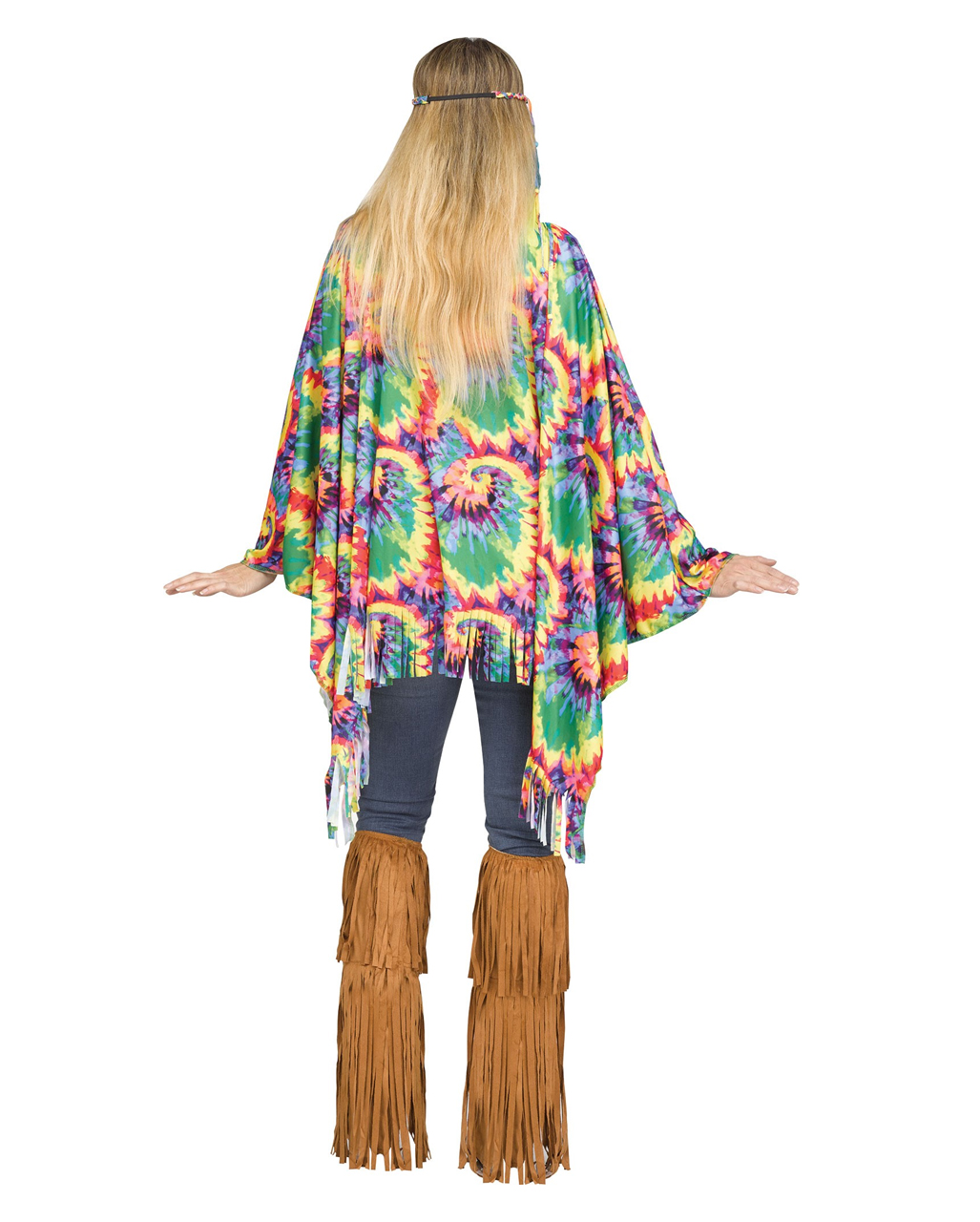 hippie poncho mit haarband jetzt kaufen horror. Black Bedroom Furniture Sets. Home Design Ideas