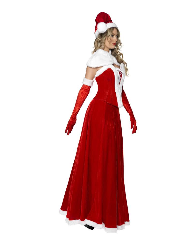 miss santa corsagenkleid sexy weihnachtsfrau kost m. Black Bedroom Furniture Sets. Home Design Ideas