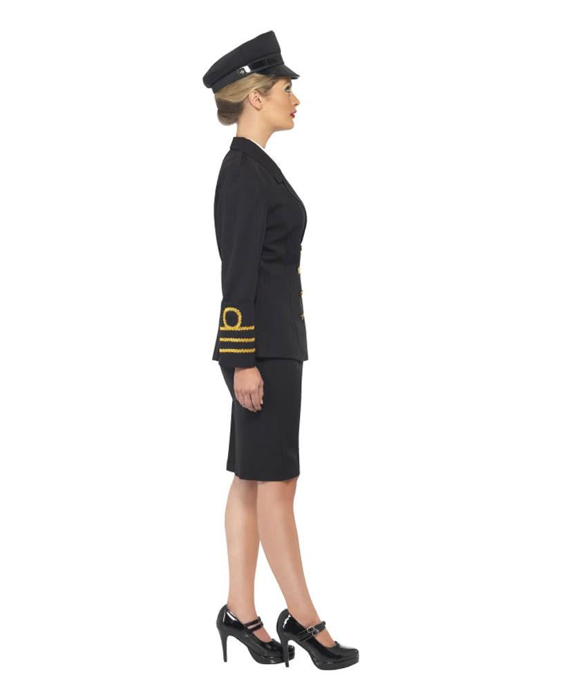 navy officer damen verkleidung schwarze milit runiform f r frauen horror. Black Bedroom Furniture Sets. Home Design Ideas