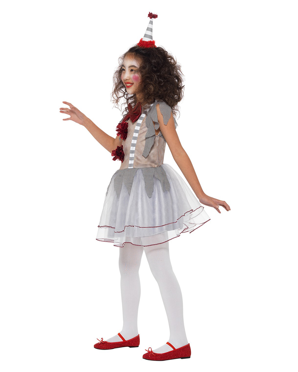Halloween Clown Girl Outfit.Vintage Horror Clown Girl Costume