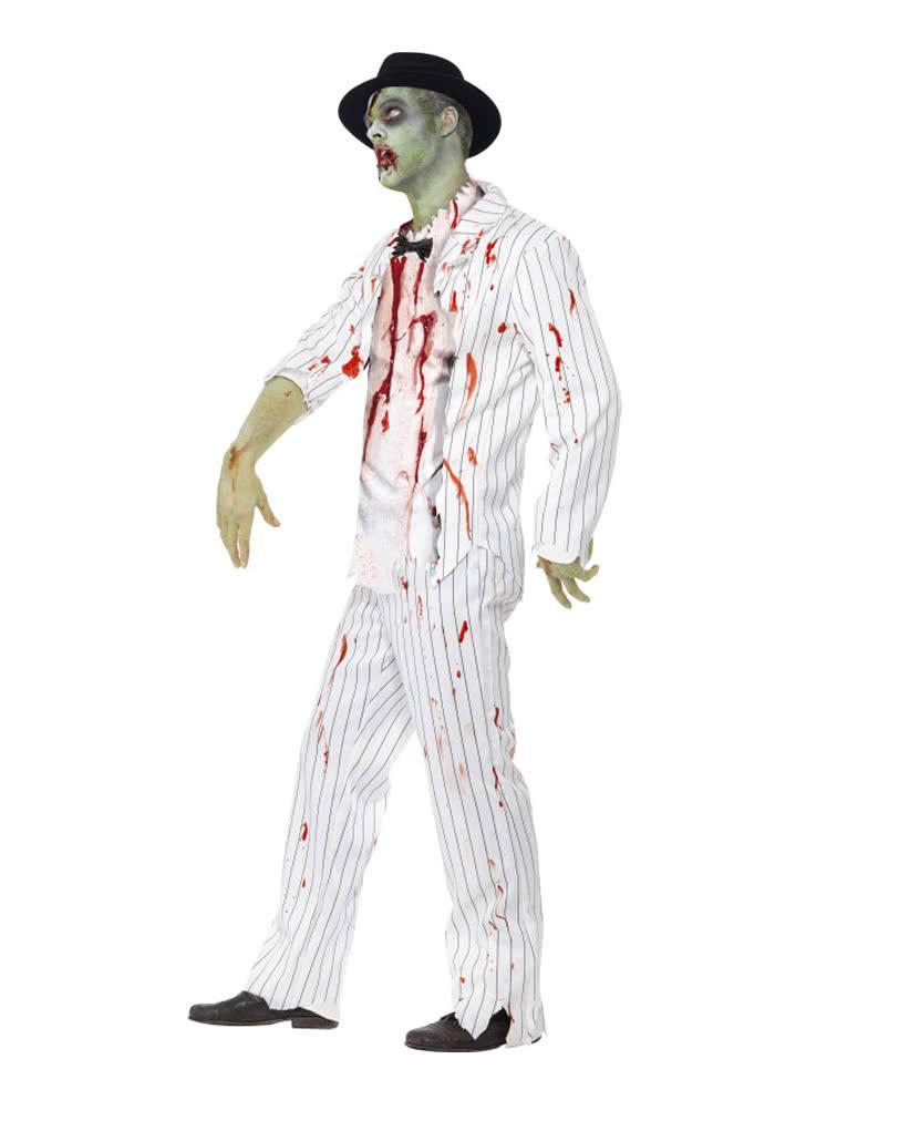 zombie gangster kost m untoten verkleidung f r herren horror. Black Bedroom Furniture Sets. Home Design Ideas